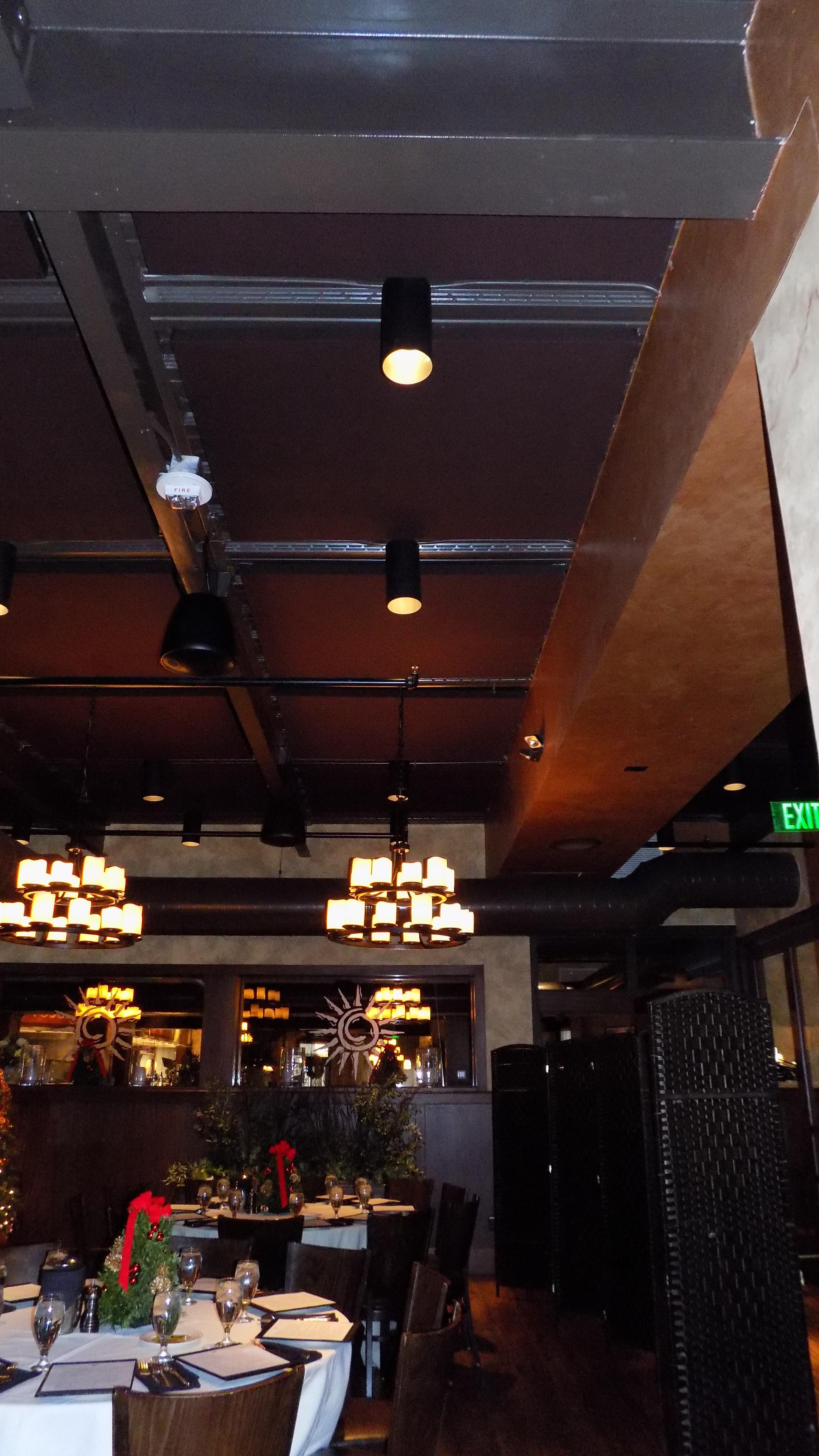 Soundproofing Reduces Reverberation Time In Restaurant