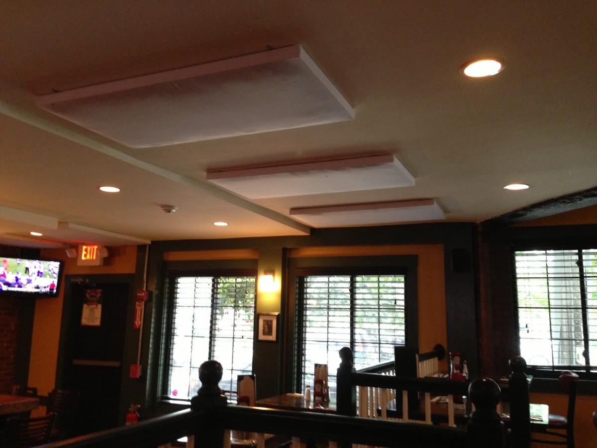 Low Profile Acoustic Panels For Restaurant Sound Control